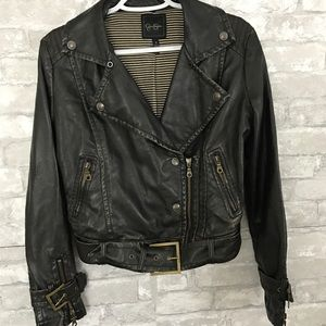 Jessica Simpson Faux Leather Moto Jacket